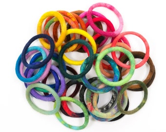 5pcs-SET of 5 BANGLES + 1 bangle FREE! Hand felted bangle bracelet