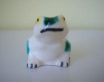Tiny Vintage Frog Figurine
