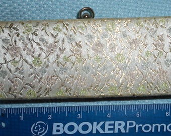 Small Clutch Evening Bag Hardside vintage Mid Century Floral