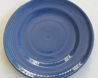 """Hand Painted 8"""" Blue Swirl Design Side or Sald Plate Stonemite"""