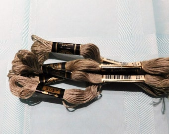 5 SKeins DMC #3023 Embroidery Floss Made in France
