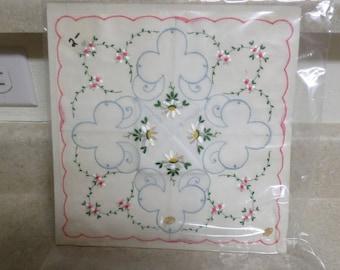 Vintage Lot of 2 Ladies Handkerchiefs Made in Switzerland mint in package