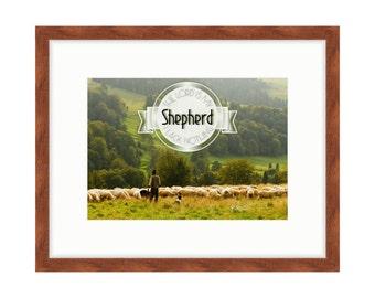 The Lord is My Shepherd - Bible Verse Art - Psalm 23:1