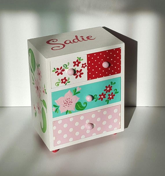 personalized child 39 s jewelry box pink birthday gift