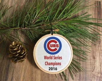Chicago Cubs World Series Ornament, christmas ornament, ornaments, tree, decor, cubs, world series, cubbies, chicago cubs