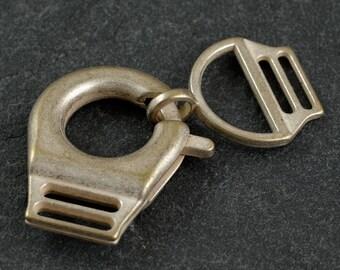 Metal snap hooks clasps for handbag Straps, belt Straps, fashion accessories by 2-set, Antique Gold,SP-2408