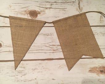 Medium Blank Burlap bunting / DIY burlap bunting / blank burlap banner / DIY Wedding decor / burlap bunting kit / rustic wedding decor / bur