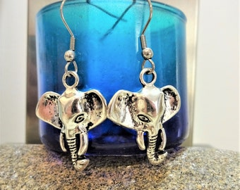 ELEPHANT EARRINGS - surgical stainless steel ear wires - hypoallergenic, sensitive ears, non allergic ear wires