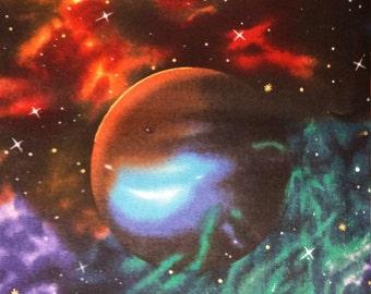 Planets blanket etsy for Solar system fleece