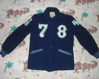 Vintage 70's Highland High School wool Varsity Jacket, size Small by DeLong letterman jacket autumn '78!
