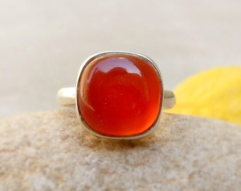 Red Onyx Ring Red Stone Ring Sterling Silver Red Onyx Ring onyx jewelry Solitaire Rings February Birthstone Ring Size 4 5 6 7 8 9 10 11 12