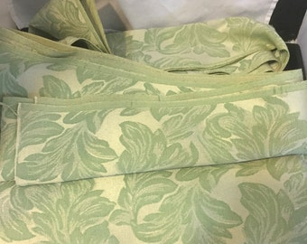 D004  Green Upholstery Fabric leaves