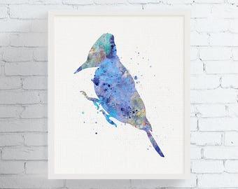 Watercolor Woodpecker Print, Woodpecker Art, Bird Watercolor Print, Bird Wall Art, Bird Painting, Bird Art Print, Living Room Decor,, Framed