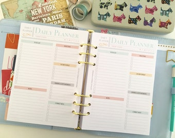 Printable Daily Planner - Daily Agenda - Daily Organiser - 2017 Daily Planner - Daily Planner Inserts - Daily Planner Notebook