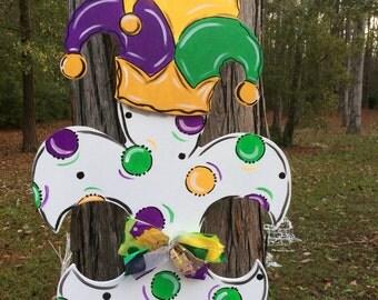 Jester Hat Fleur de lis. Mardi Gras, NOLA, New Orleans