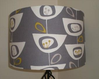 Handmade Lightshade - John Lewis - Seedheads - Steel Grey