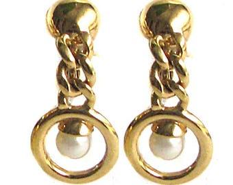 NINA RICCI, vintage dangle earrings