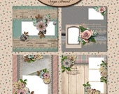 ON SALE Digital Scrapbooking, Quick Pages, Premade Layouts: Looking Back