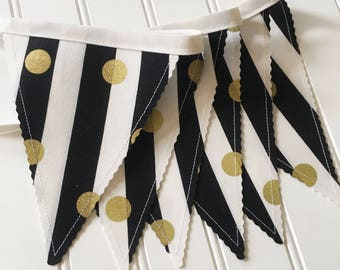 Bunting Banner, Party Decor, Baby Shower Decor, Nursery Decor, Photo Prop, Fabric Bunting, Pennant Banner, Garland, Bunting