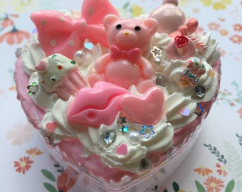 Pink Bear and Bow Decoden Box