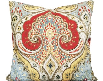 Kravet Floral Medallion Decorative Pillow Cover - Both Sides - 10x20, 12x16, 12x20, 14x18, 14x24, 16x16, 18x18, 20x20, 22x22, 24x24