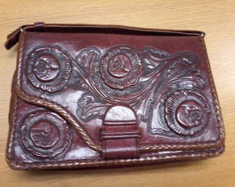 Leather embossed purse