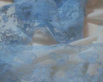 "pale blue lace 3.75"" wide x 4 yards UK seller"
