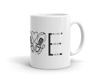 I Love Triathlons Mug - Triathlon, Gift for Triathlete, Ironman triathlon