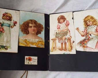 Victorian 1900's scrapbook Belleville Ontario Canada reference cards articles newspaper clippings photos Canadian old antique pictures rare