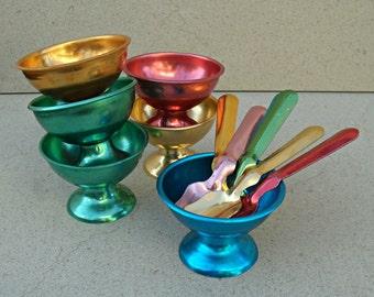 Vintage Israeli ice cream bowls , desert bowls  ,Israel  .1950s-60s