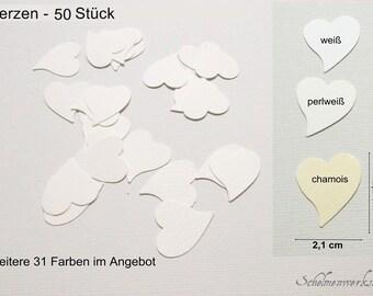 Confetti punch supplies table confetti hearts (50 PCs)