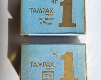 1970 Tampax Tampons TV Guide Promotional Playing Cards – Sealed - Two-Decks USPCC