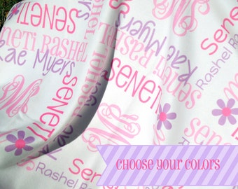 Personalized Baby Girl Blanket - Monogrammed Receiving Blanket for Infants - Custom Name Baby Blanket - Fleece Newborn Swaddling Blanket