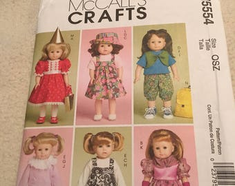 Mccalls crafts, doll clothes pattern