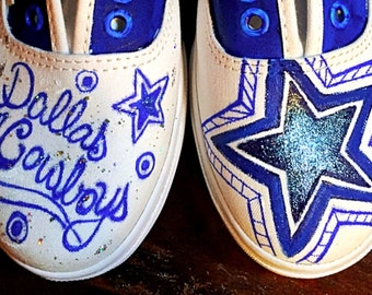 Custom designed and painted Dallas Cowboys Vans! Designed and personalized just for you