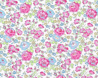 Liberty of London Tana Lawn Felicite in Pink and Blue -- 1/4 Yard