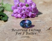 Reserved Listing for J Butler / 14kt Tanzanite and Diamond Ring, Size 7