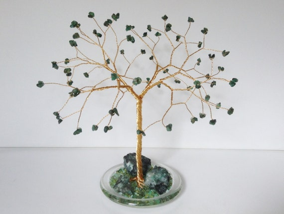 55th Wedding Anniversary Gift Ideas For Parents: 55th Wedding Anniversary Gift.Emerald Gemstone Tree By Josoko