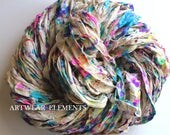 Sari Silk, Artists Pallet 2, Per Yard, Fair Trade, Silk Canvas Series, Textile, Yarn, Ribbon, Silk Ribbon, ArtWear Elements 142b