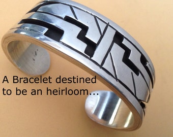 Taxco 925 A Bracelet Destined to be an Heirloom an Ancient Hieroglyphic Theme.