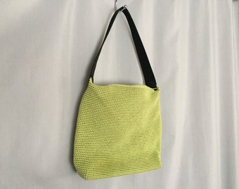 Green Purse Vintage The Sak Black Shoulder Strap Hobo Handbag Tote
