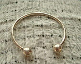 Heavy silver plated bangle