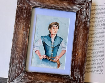 """The Smolder. ORIGINAL 3x5""""/4x6"""" Watercolor Painting w/Frame"""