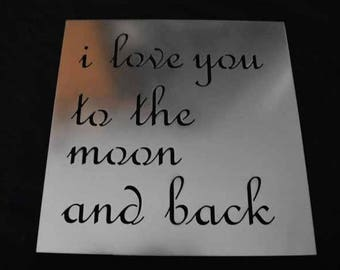 i love you to the moon and back Metal Sign / metal sign / metal art work