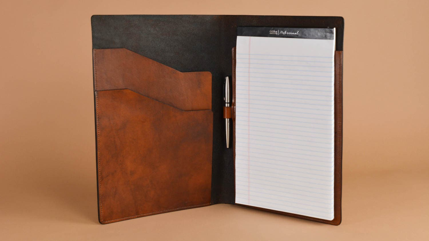 Leather Legal Pad Portfolio Letter Sized Legal Pad Folder
