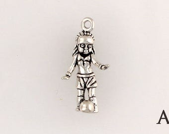925 Sterling Silver Girl Soccer Player, Choice of  Charm, Necklace or Euro Adapter - sp147