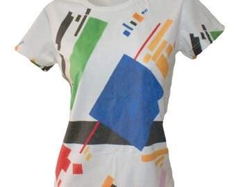 Artimisz Kazimir Malevich Suprematist Composition, 1916 Handmade T-Shirt Fine Art Print Suprematism S M L XL