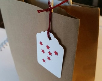 Tags Set of 24 - Personalize gifts and crafts - You can attach them to your gift bags, bottles, scrapbook, albums and more.