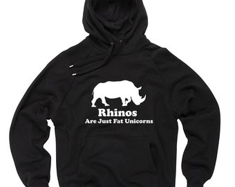 Rhinos Sweatshirt Unicorn Hoodie Funny Rhinos Unicorn Hooded Sweater