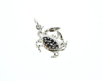 Silver Crab Charm